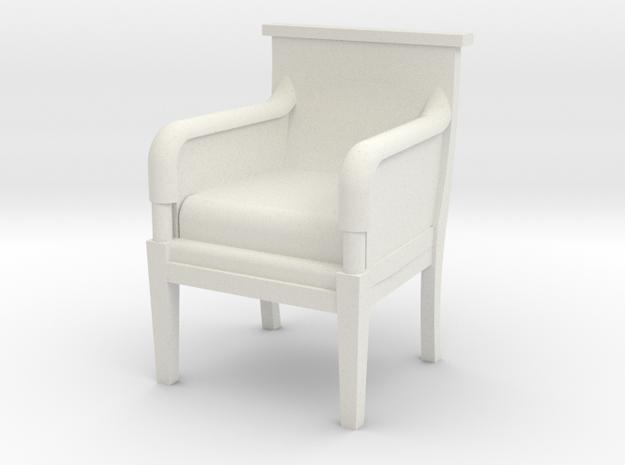 Period Armchair in White Natural Versatile Plastic