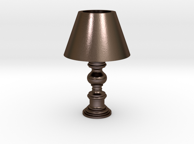Period Lamp in Polished Bronze Steel