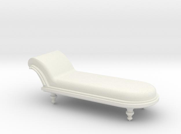 Chaise in White Natural Versatile Plastic