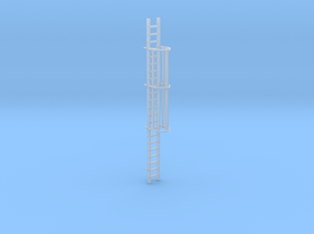 'HO Scale' - 20' Caged Ladder in Smooth Fine Detail Plastic