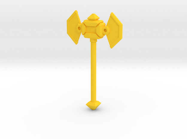 MiniFig NK Axe in Yellow Strong & Flexible Polished