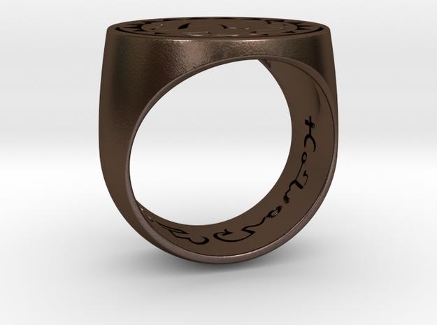 Talisman #20  in Polished Bronze Steel: 8.5 / 58