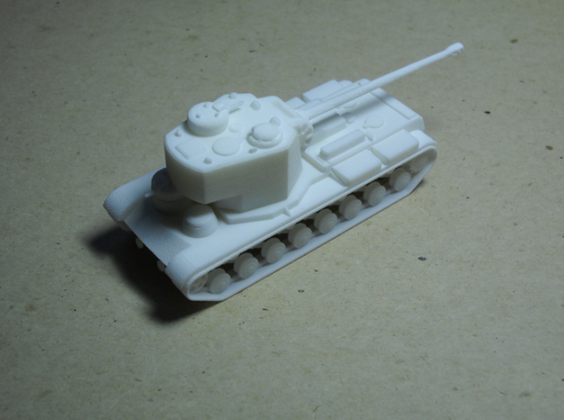 1/100 KVS 3d printed The main turret on the KVS is just high enough to clear the front turret, unlike the KV-5.
