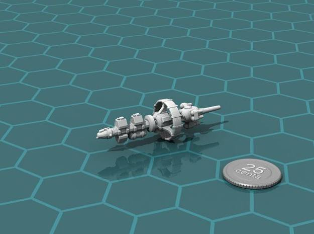 Belter Prospector 3d printed Render of the model, with a virtual quarter for scale.