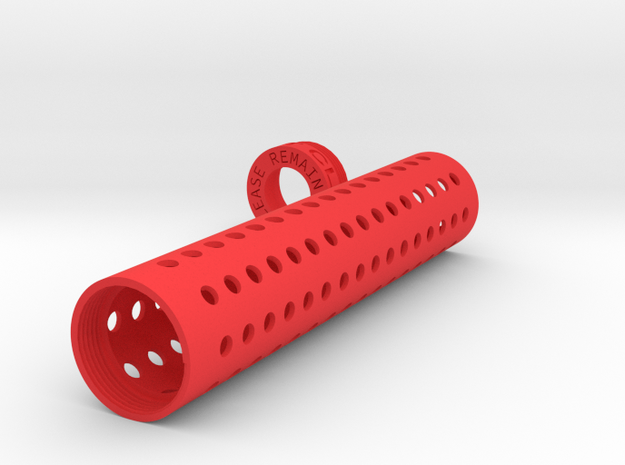 Suppressor Sheath Version 2 (30x150) in Red Strong & Flexible Polished