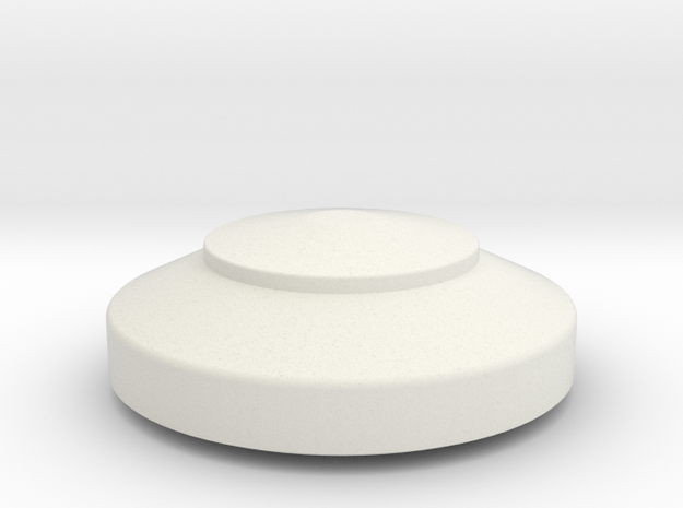JP Lower Tank Cap in White Natural Versatile Plastic