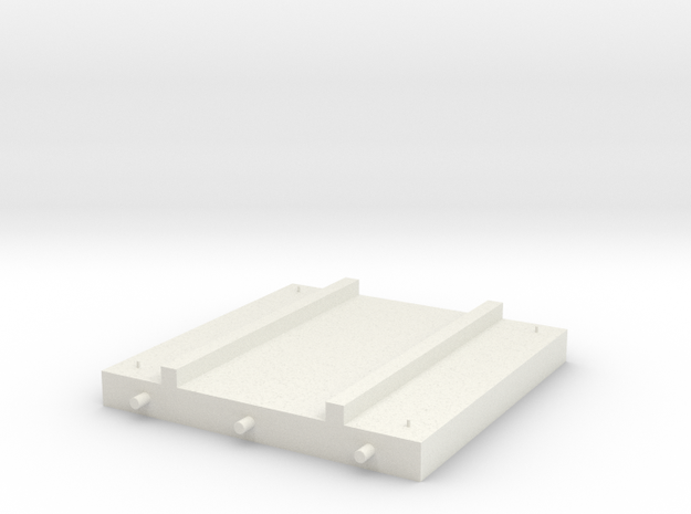 1/64 Overhead Bin Platform in White Natural Versatile Plastic