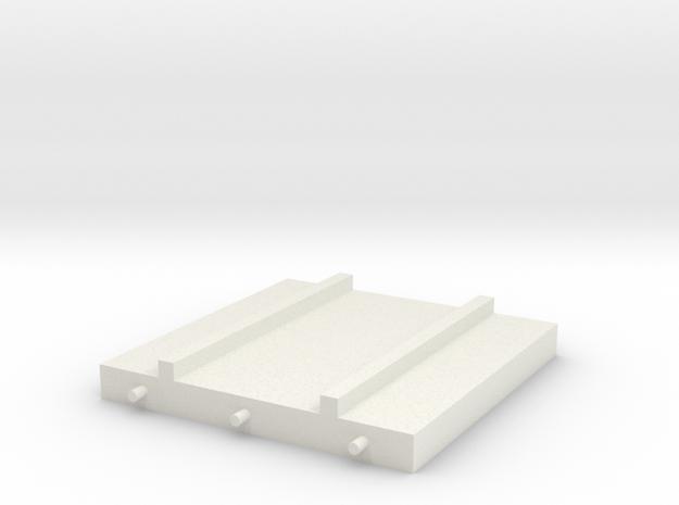 1/64 Platform Spacer in White Natural Versatile Plastic