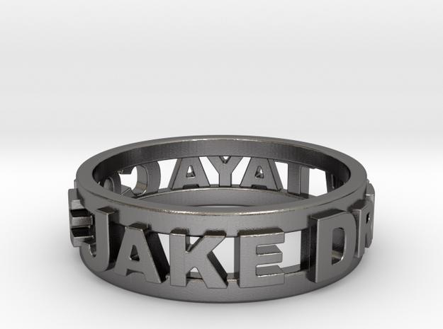 Custom 3D Printed Ring in Polished Nickel Steel