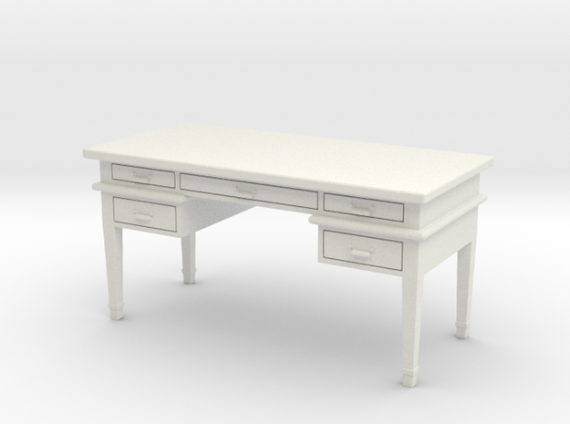 Office Desk in White Natural Versatile Plastic
