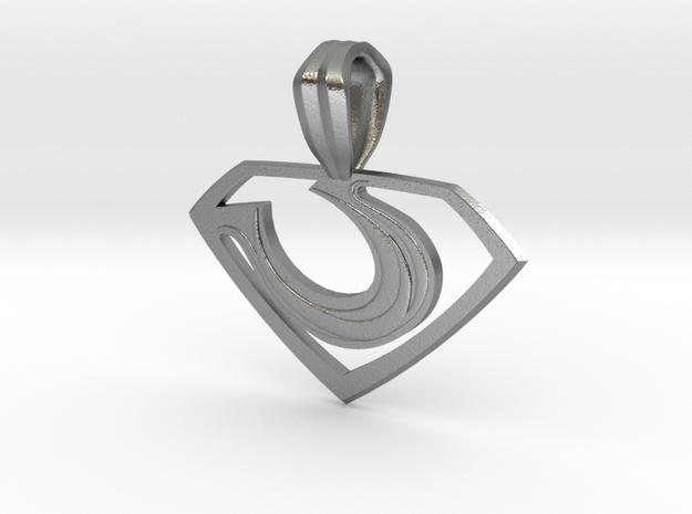 Zod Pendant - Small in Natural Silver