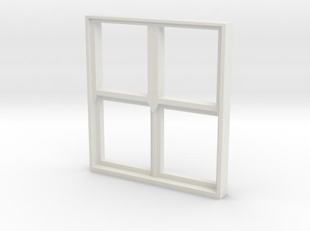 Square Window 1:55 in White Natural Versatile Plastic