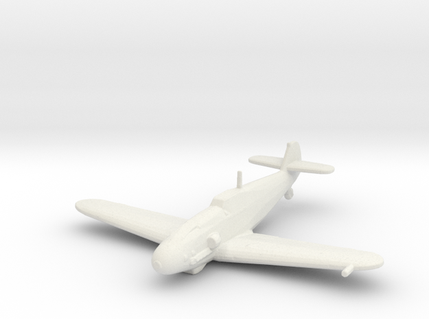 Messerschmitt Bf 109 G-4 1/200 x1 WSF in White Natural Versatile Plastic