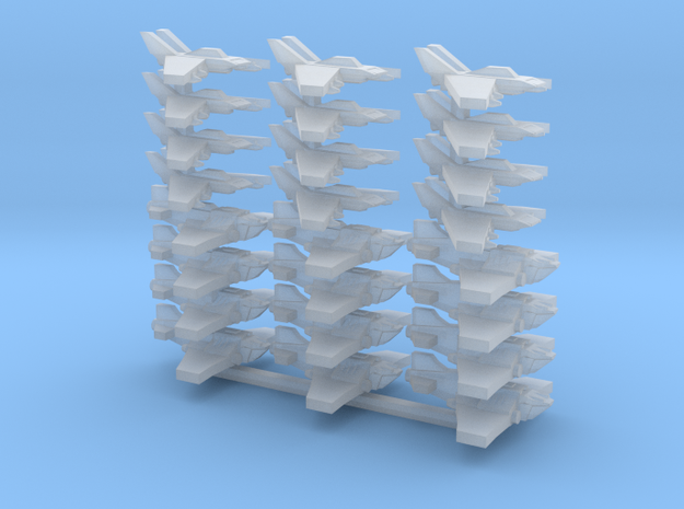 [FLEETSCALE] 12x Strike Fighter, 12x Heavy Fighter in Frosted Ultra Detail