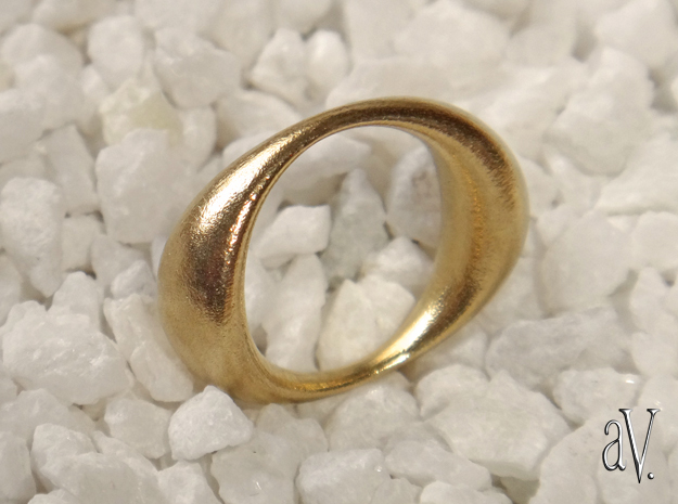 Double Globe Ring in Natural Brass: 5 / 49