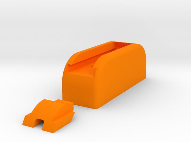 Table Number Base - 1 digit numbers in Orange Processed Versatile Plastic