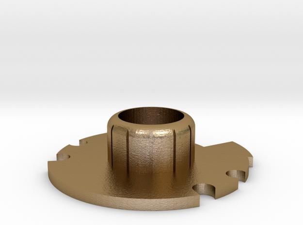 "1.24"" Crystal Chamber Part 2/2: Base/ Ceiling V1 in Polished Gold Steel"