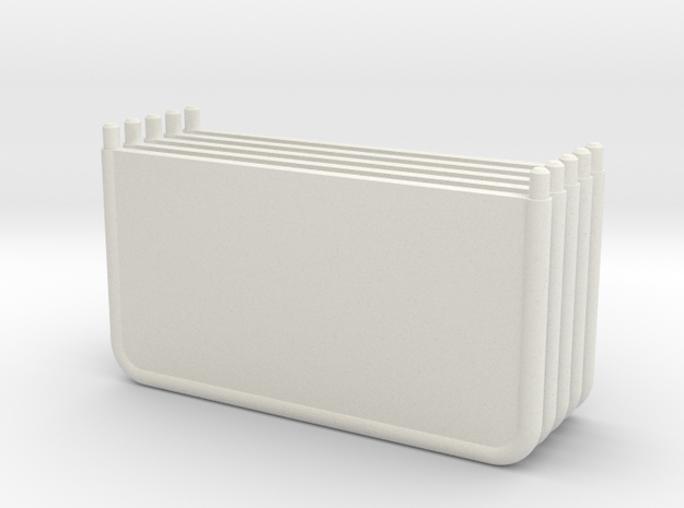 HO 1/87 spare 27mm pitch partitions for horseboxes in White Natural Versatile Plastic