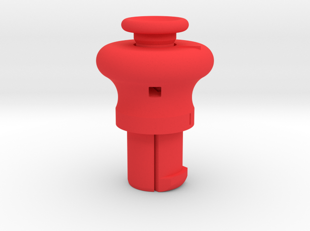 Cylinder Pull Tool Long in Red Processed Versatile Plastic