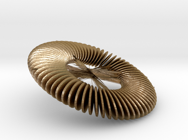 Fan Saucer in Polished Gold Steel