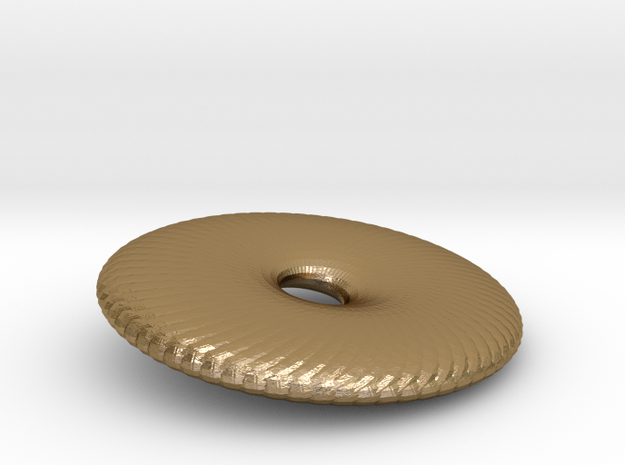 Fan Wafer in Polished Gold Steel