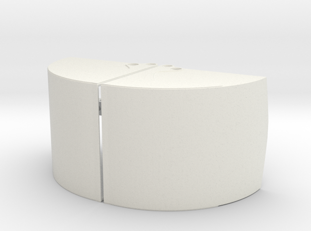 Clamshell Bucket Large in White Natural Versatile Plastic