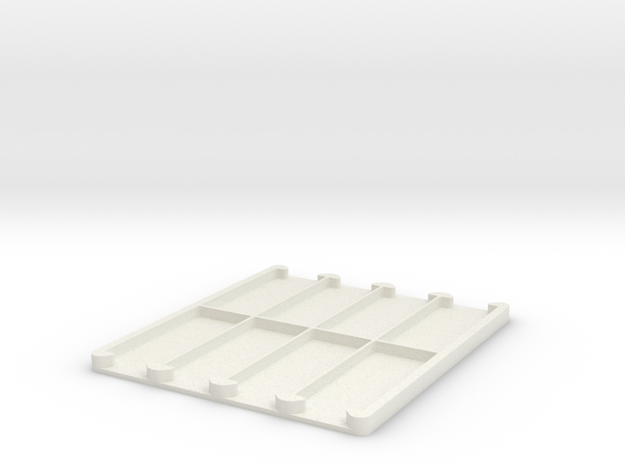 Safe Storage for Counting Chambers in White Natural Versatile Plastic