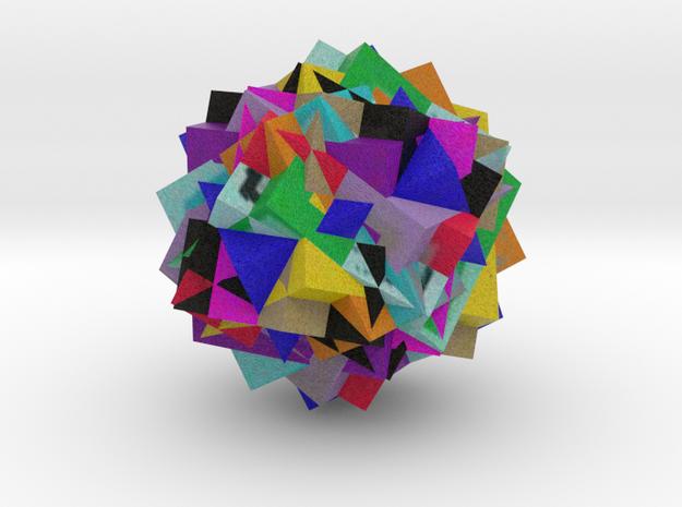 13 Cube Compound, colored in Full Color Sandstone