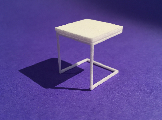 End Table 1-24 in White Natural Versatile Plastic