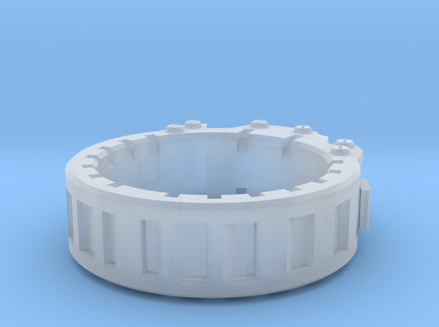 Industrial Ring -  Size 9 in Smooth Fine Detail Plastic