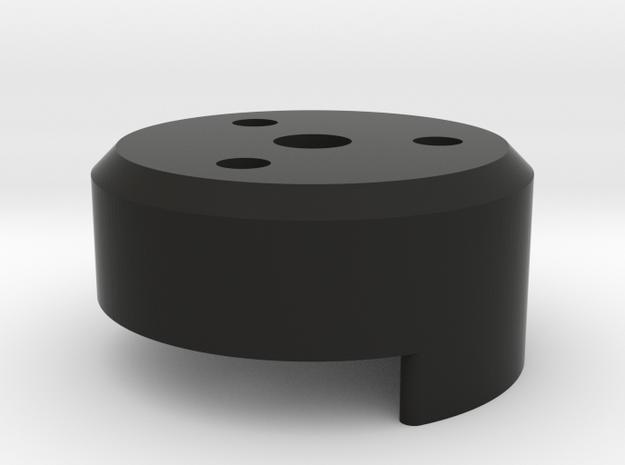 """1/4""""-20 adapter in Black Natural Versatile Plastic"""