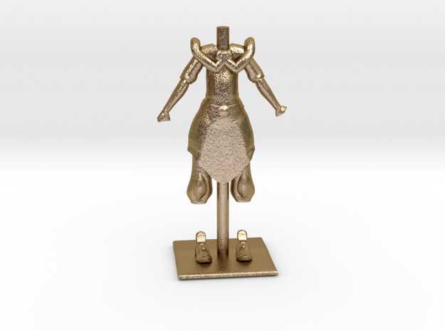 Cloth Avatar Figure in Polished Gold Steel