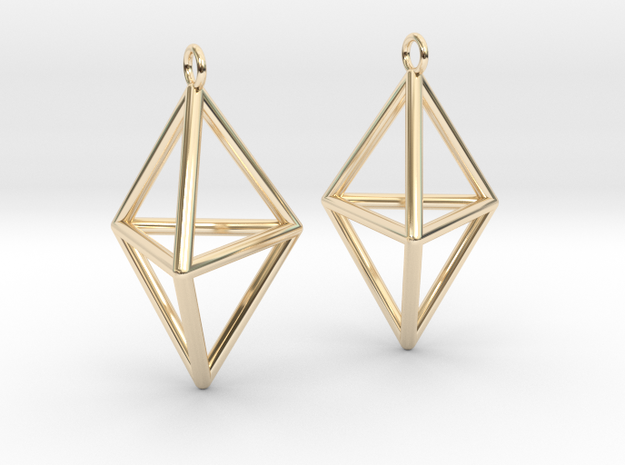 Pyramid triangle earrings type 3
