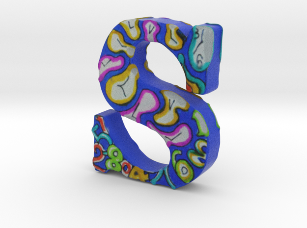 "#140 - Letter S - ""Abstract Clocks"" - Artist's Fon in Full Color Sandstone"
