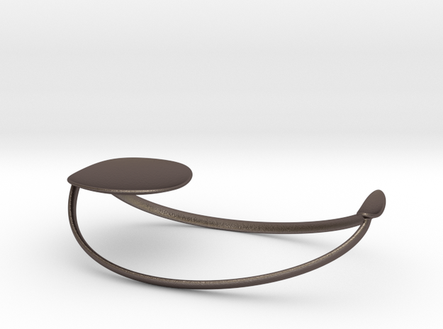 Balance Spoon Rest  in Polished Bronzed Silver Steel