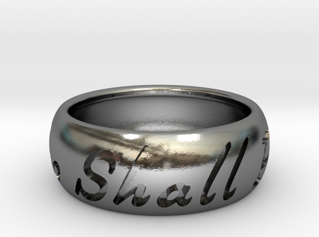 This Too Shall Pass ring size 12 in Polished Silver
