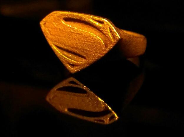 Man Of Steel - Ring 3d printed Stainless Steel