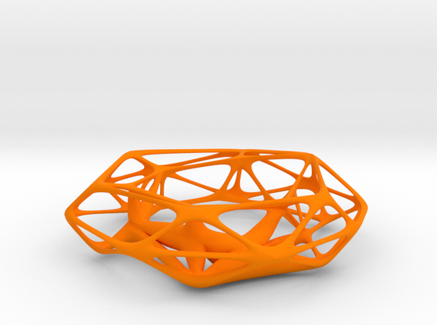 Thickened wireframe bangle in Orange Strong & Flexible Polished