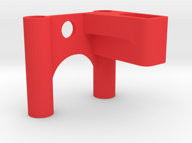 ZMR250 XT60 Antenna Mount V1 in Red Processed Versatile Plastic
