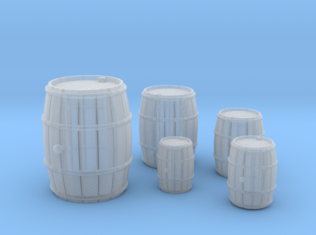 Wooden Barrels Kit in Frosted Ultra Detail