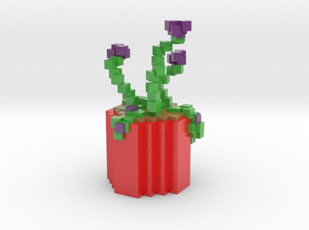 Coco's Minecraft Plant in Glossy Full Color Sandstone