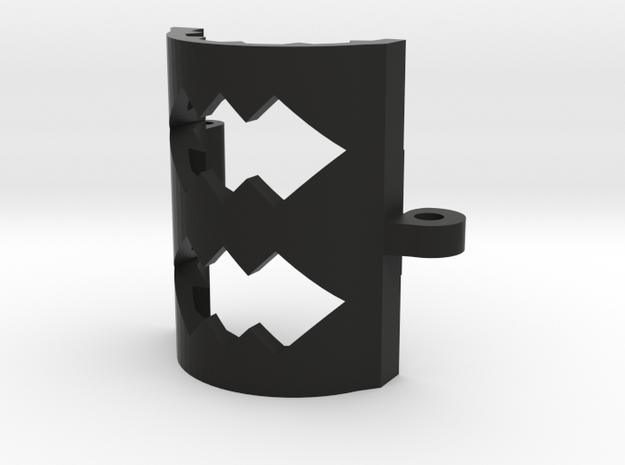 Spiked Sleeve Bottom 16 in Black Natural Versatile Plastic