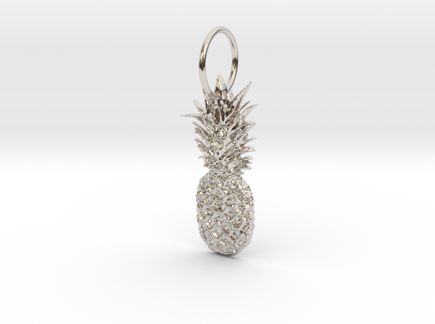 Pineapple in Rhodium Plated Brass