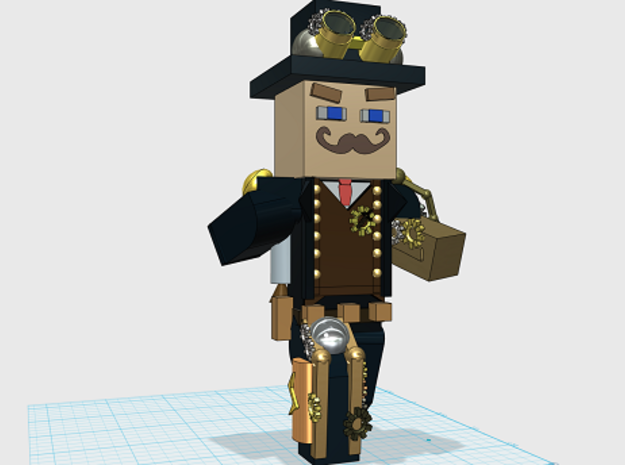 Steampunk Minecraft in White Strong & Flexible