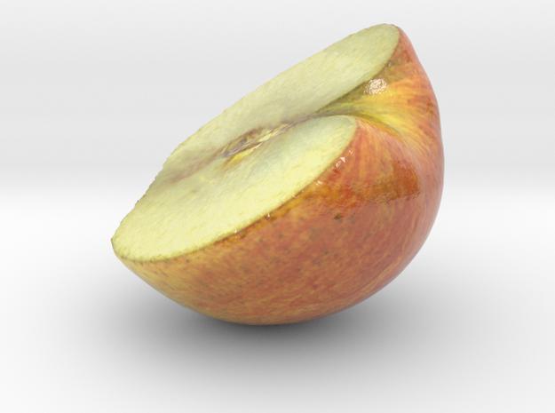 The Apple-3-Half in Glossy Full Color Sandstone