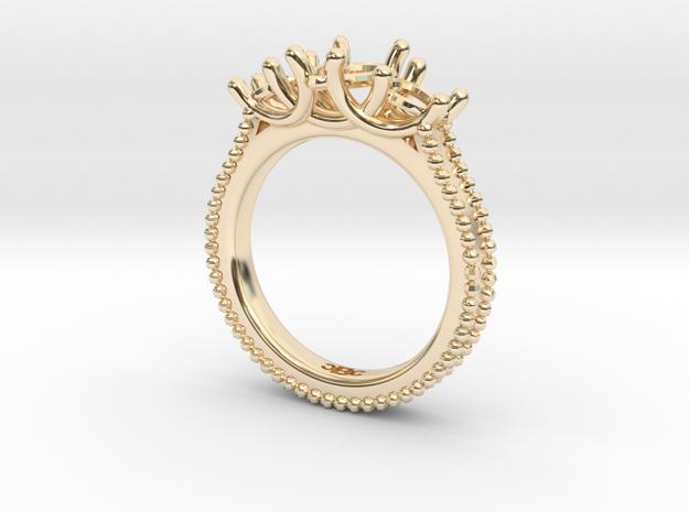 DeniseShapeways in 14k Gold Plated Brass