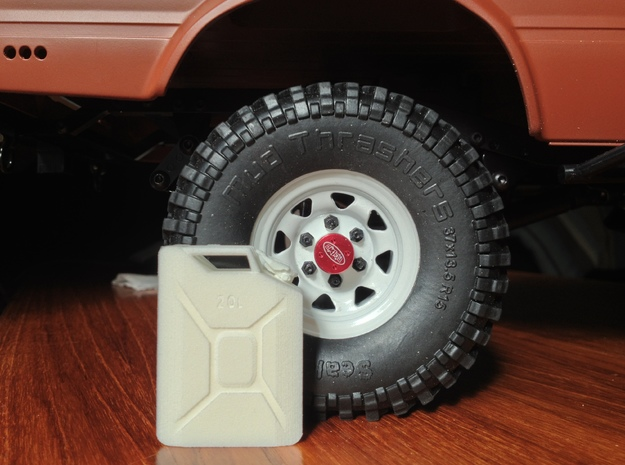 NATO 20L Jerry Can 1/10 Scale 3d printed White Strong Flexible