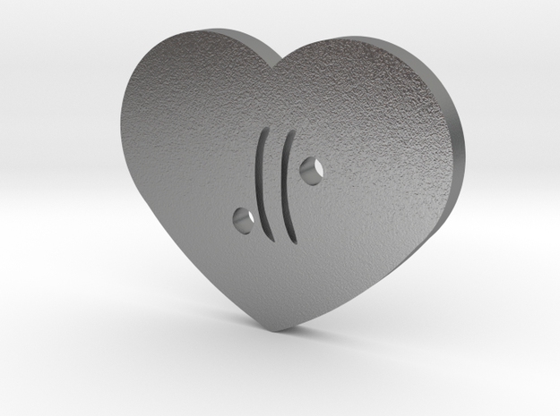 Moon-glyph-heart-air in Natural Silver