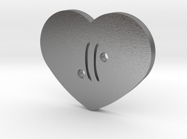 Moon-glyph-heart-air in Raw Silver