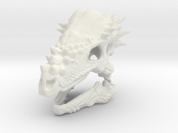 Pachycephalosaurus in White Strong & Flexible